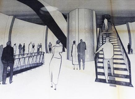 Zeichnung vom Atomium